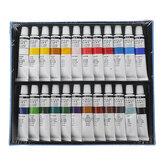 H & B HB-AP24 Profesyonel 24-Color Propilen Pigment El-Boyalı Set Duvar Boyama DIY Suluboya Boya Seti