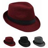 Cap jazz unisex lã vintage balde mole fedora aba do chapéu panamá