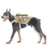 600D Nylon Tactische hondenvesten Militaire hondenkleding met opbergtas Training Dragende harnas