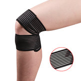 KALOAD 1 PC Knee Pad Polyester Knee Support Elastic Breathable Yoga Sports Knee Fitness Protective Gear