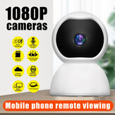 Câmera de vigilância Guudgo 1080P IP Câmera inteligente WiFi 360 Ângulo Night Vision Camcorder Vídeo Webcam Baby Home Security Monitor