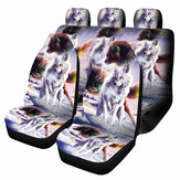1/7 PCS Universal Car Seat Cover Wolf Design Front & Rear Seat Full Protect