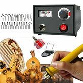 110V 220V 60W Multifunction Wood Burning Pen Tool Pyrography Machine Set Kit Burner