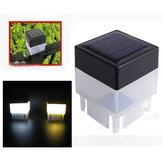 Solar Powered LED Square White Light para poste de cerca Piscina Garden al aire libre Decor