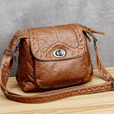 Femmes Vintage Casual Solid Small Crossbody Bag Sac à bandoulière