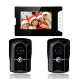 ENNIO SY813MK21 7 polegadas TFT LCD Video Porteiro Campainha Intercom Kit 2 Câmeras 1 Monitor de Visão Noturna