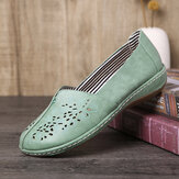 LOSTISY Mujer Hand Stricing Hollow Comfy Retro Casual Slip On Flats