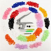 Botón de cierre a presión con pinzas 350pcs T5 SNAP poppers de plástico de resina botones