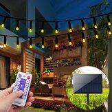 22M 200 LED Solar Powered Fairy String Light Party Decoración navideña Jardín al aire libre Control remoto