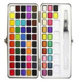 SeamiArt 72/90 Colors Solid Aquarell Set Tragbare Aquarellfarbe zum Zeichnen von Kunstfarben Schreibwaren Malutensilien