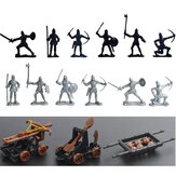 14 pcs Cavaleiros Medieval Brinquedo Soldados Action Figure Role Play Playset