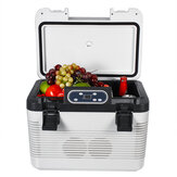 DC 12V - 24V 19L Car Refrigerator with Freezer Cooler portable Outdoor picnic