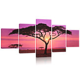 Grande Sunset & Árvore Canvas Print Wall Art Pintura Imagem NO Frame Home Decorations