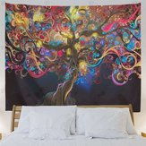 Psychedelic Tree Tapestry Colorful Pattern Wall Hanging Tapestry Home Decoration