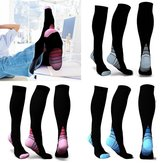 Uniex Elasticity Compression Socks Breathable Travel Activities Fit for Nurses Shin Splints Flight