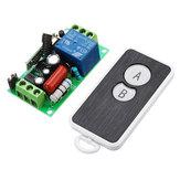 433 MHz AC220V 1 Canal Sem Fio Módulo de Comutação Controle Remoto Aprendizagem Código 1CH Módulo de Relé com Transmissor à prova d 'água 2 Chave