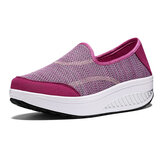 Women Mesh Rocker Sole Shoes