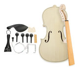 DIY Natural Solid Wood Violin Fiddle 4/4 Size Kit Spruce Top Maple Back Fiddle