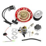 Recoil Carburetors Ignition Coil Spark Plug Air Filter Gas For Honda GX160 GX200