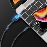 Floveme 3A Type C Micro USB LED Anzeige Magnetisches Schnellladedatenkabel Für HUAWEI P30 MI9 S10 S10+