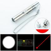 Três-em-umLanternaLuzBranca+Laser +365 Luz Branca USB Recarregável Mini LED Lanterna Luz de Trabalho Ao Ar Livre Laser Luz