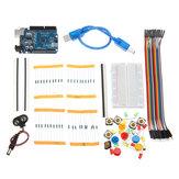 AOQDQDQD® DIY Bread Board LED UNO R3 Basic Starter Learning Kit Starter Kits