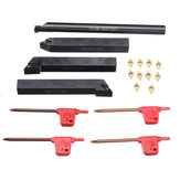 14pcs 12mm Lathe Boring Bar Turning Tool Holder with Wrench and Carbide Inserts Blades Set