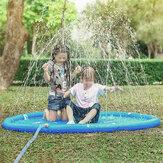 170cm Blue Dinosaur Round Edge Aufblasbares Wasserpad Wasser Outdoor-Spielzeug