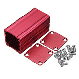 Red Extruded Aluminum Project Box Electronic Enclosure Case DIY Heat Dissipating Tools 50*25*25mm