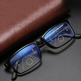 Unisex Christmas Gift Anti-blue Light Distance and Near Dual Purpose Multi-focus Zoom Reading Glasses Presbyopic Glasses