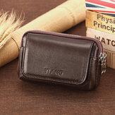 Mannen lederen retro multi-carry mini telefoon tas kaarthouder tas heuptas crossbody tas
