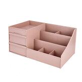Kunststoff Desktop Organizer Make-up Kosmetik Aufbewahrungsbox Fall Briefpapier Stifthalter Home Dekorationen
