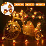 2M/3M/4M LED Acorn String Light 8 Modes Waterproof Christmas Party Decorative Lamp with Remote Control