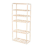6 Tier Display Flower Stand Shelf Garden Wooden Book Storage Rack Indoor Outdoor