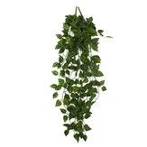 2 bouquet 4ft soie artificielle scindapsus lierre feuille guirlande plante vigne feuillage jardin décorations pour la maison