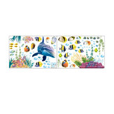 Underwater World Wall Sticker Home Office Decoraciones de pared Papel tapiz Sala de estar Fondo Wall Art Poster