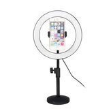6500K 120 LED Ring Light Dimmable Kit Stand Phone Clip for Video Studio Make up