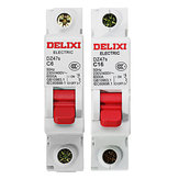 Delixi® DZ47S-1P/C AC 230/400V 6/16A 1P Plastic Air Switch Miniature Circuit Breaker