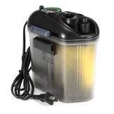 5.5W 150L / H akvariefisk Tank Ekstern hængning på beholderfiltermedie leveret