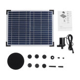 DC40Q-1702 Solar Power Fountain Kit Solar Panel Garden Solar Fountain Landscape Floating Fountain Water Pump