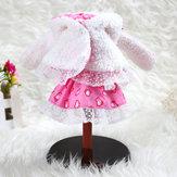 BBGirl 30cm 35cm BJD Doll Dress Rabbit Hood Party Fashion Odzież Akcesoria dla dzieci Zabawka
