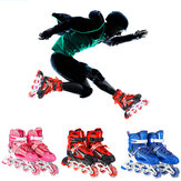Professional Adjustable Inline Skates Sneakers Roller Blades with 1 Flashing Wheel Protective Gear Set for Kids Teen Adult