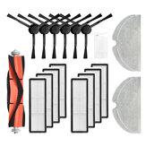 20pcs Replacements for Mijia 1C Dreame F9 D9 Aspirador de pó Peças Acessórios Escovas laterais * 6 filtros HEPA * 8 escova principal * 1 esfregona * 4 ferramenta de limpeza * 1 [não original]