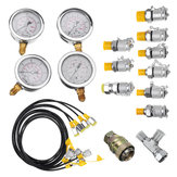 10/25/40/60mpa Hydraulic Pressure Guage Test Kit with 4pcs Oil Gauge Test Hose