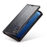 Casemeمحفظةمسندهحالةوقائيةل Samsung GalaxyS9 فتحات مغناطيسية بطاقة فتحات