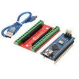 NANO IO Shield Expansion Board + Nano V3 Improved Version With Cable Geekcreit for Arduino - products that work with official Arduino boards