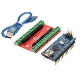 Scheda di espansione NANO IO Shield + Nano V3 Versione migliorata con cavo Geekcreit per Arduino - prodotti che funzionano con schede Arduino ufficiali