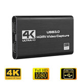 Tarjeta de captura de video Bakeey HDMI 1080P 60fps 4K 60HZ Loop Out USB 3.0 Audio Video Recorder para videoconferencia de juegos Transmisión en vivo