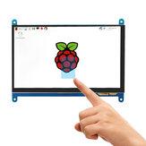 Catda® Raspberry Pi 4B / 3B + 7 polegadas IPS HD Tela de toque capacitiva Raspberry Pi Display 1024 * 600