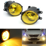 Pair Front Fog Light Yellow Lens with Bulbs 110W For Toyota For Lexus For Scion